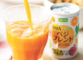 健康と考える力に<br>新発想の野菜飲料
